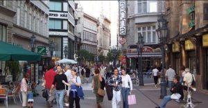 Váci Straße in Budapest