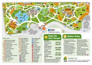 Der Zoo von Budapest Karte