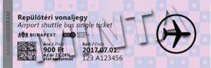 Einzelticket der Linie 100E