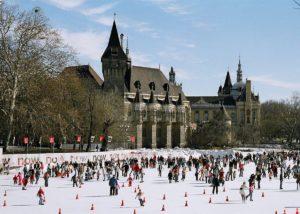 Eisbahn in Budapest
