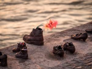 Schuhe am Ufer der Donau - Budapest