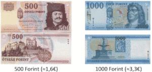 Ungarische Geldscheine 500