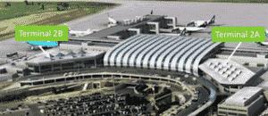 Terminal 1 und 2 -Flughafen Budapest
