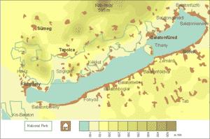 Plattensee Karte